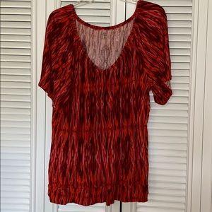 ana blouse 3x orange red blouse